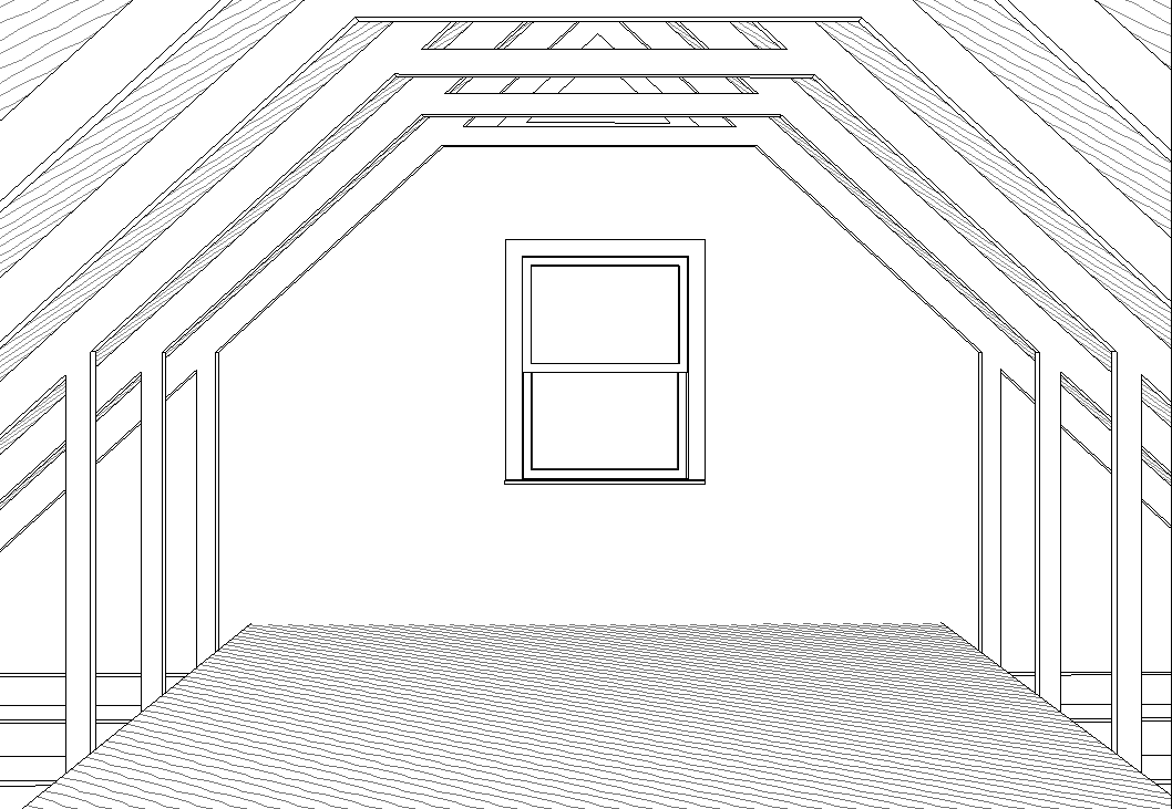 Garages plans with a room above custom home plans for Bonus room truss design