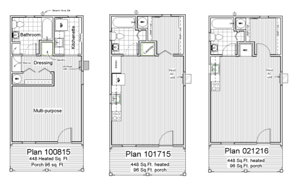 One Shell Three Plan Options All Drawn Up And Ready To Go This Sweet Little Plan Could Easily Be Directly Attached To A Main Residence Offering Privacy